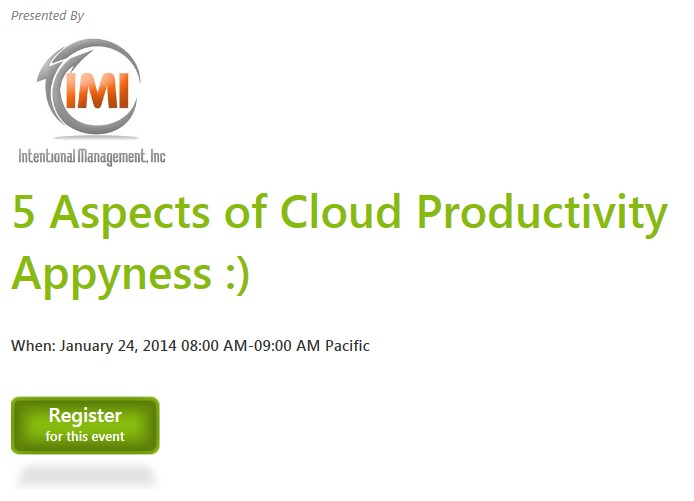 webinar cloud services productivity
